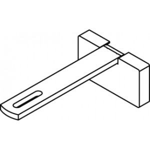 Square Smart fix 100mm Bracket Set Slotted for Metropole & Metroflat (Each) (made up of parts 11147 + 11137)