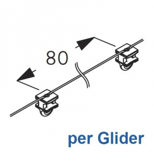 Wave 2C glider-cord 80mm pitch (price per Glider) (New May 2019)