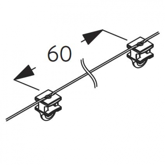 Wave 2C glider-cord 60mm pitch (price per metre) (New May 2019)