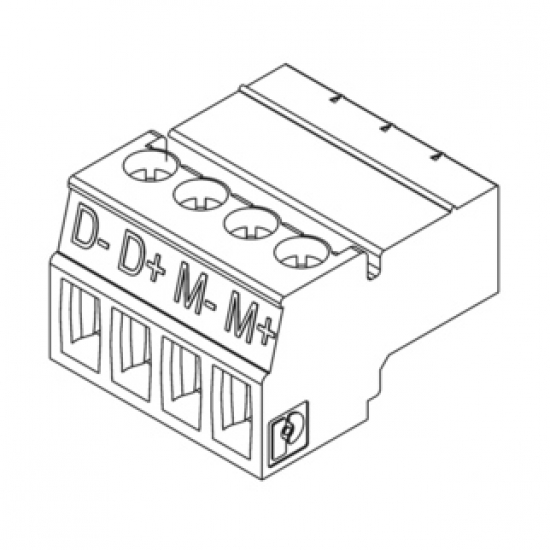 4-Pin Connector for SMART motor (Room Side) (Each)