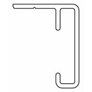 1225 Rail ONLY White (per metre)  (Obsolete)