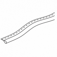 Tubular tape (per metre) White only