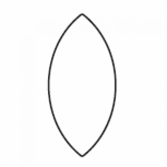 Oval wooden weight section (3 metre)