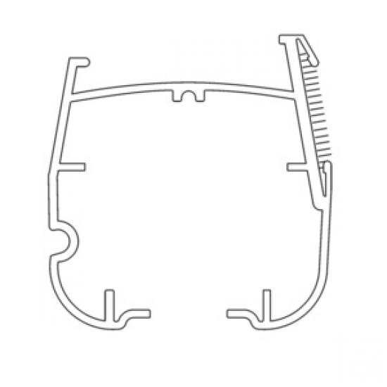 Aluminium Headrail in White at 580cm (per length)