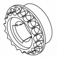 Wheel for plastic bead chain (Discontinued)