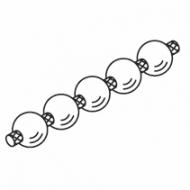 Operating chain, white  (per metre)