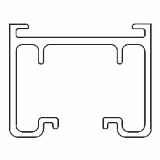 2901 Rail ONLY White (per metre)