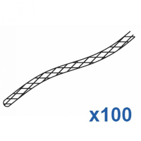 Cord 100 metre roll White  (3.5mm)