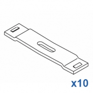 9cm spacer (8cm centres of rail) White only  (Pack Quantity 10)