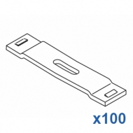 9cm spacer (8cm centres of rail) White only  (Pack Quantity 100)