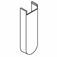 Long Extension Bracket Cover White (Each) (DISCONTINUED 2018)