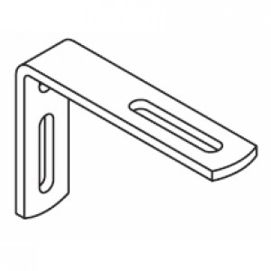 80mm Extension bracket for poles (DISCONTINUED 2018)
