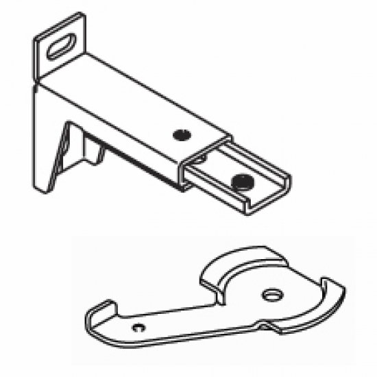 7.7cm - 10.7cm. adjustable extension bracket  with clamp (Each) (BEING DISCONTINUED IN 2018)