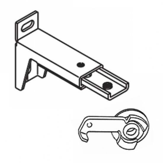 7.7cm - 10.7cms  adjustable extension bracket with clamp (Each) (BEING DISCONTINUED IN 2018)