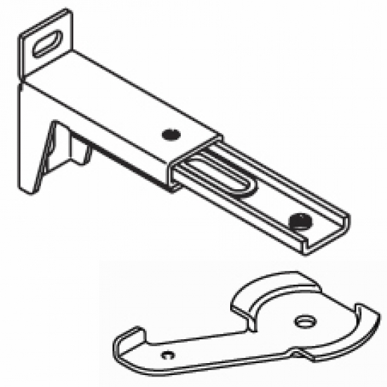 10cm - 13cm. adjustable extension bracket  with clamp (Each) (BEING DISCONTINUED IN 2018)