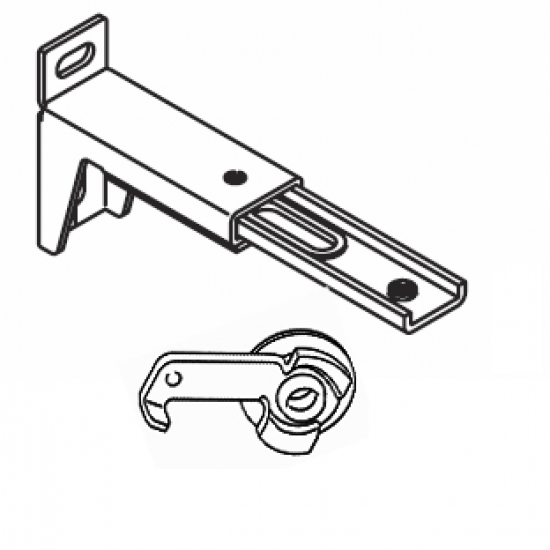 10cm - 13cms  adjustable extension bracket with clamp (Each) (BEING DISCONTINUED IN 2018)