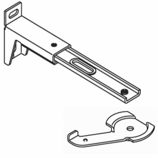 13cm - 16cm. adjustable extension bracket  with clamp (Each) (BEING DISCONTINUED IN 2018)