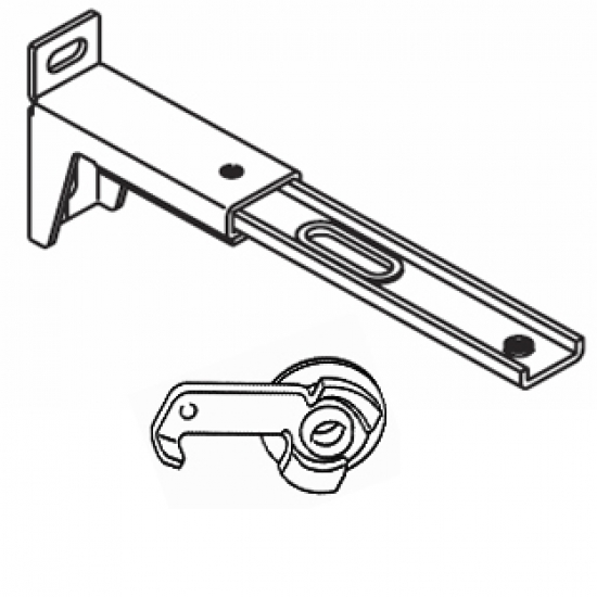 13cm - 16cms  adjustable extension bracket with clamp (Eack) (BEING DISCONTINUED IN 2018)