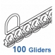 3533 Gliders in strip form (100 Gliders in 5 strips of 20)  3533/3534