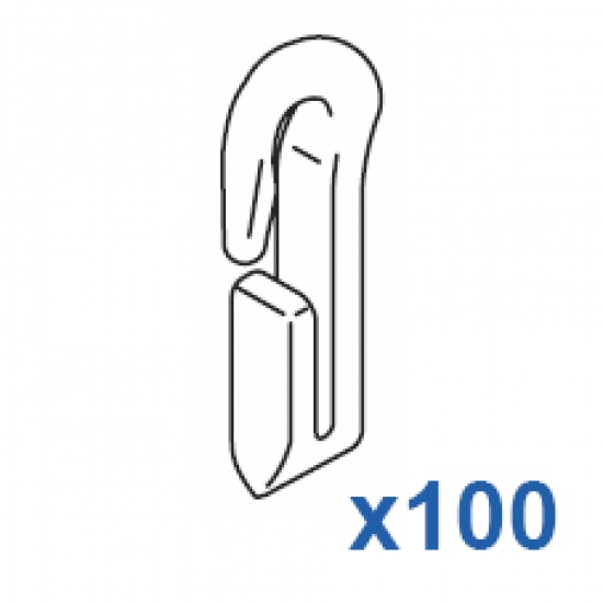 Miniature Nylon Hook (Pack 100)