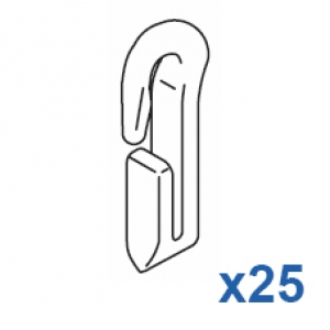 Miniature Nylon Hook (Pack 25)