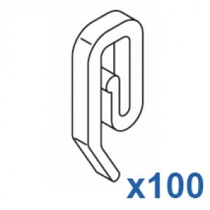 Plastic hook (Pack Quantity 100)