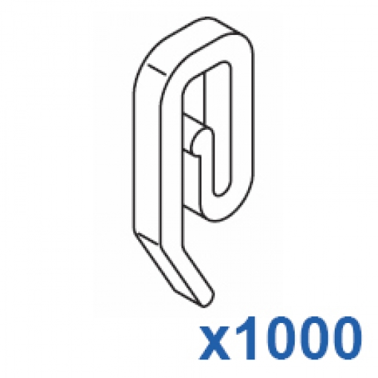 Plastic hook (Pack Quantity 1000)