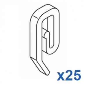 Plastic hook (Pack Quantity 25)