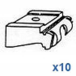 Universal nylon bracket (standard) in white OLD STYLE (pack of 10)