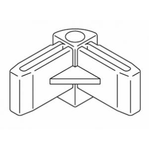 Re-inforced corner piece, grey or white