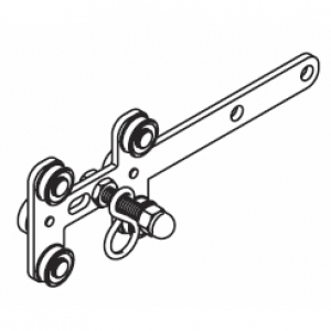 Metal Overlap straight Arm with S-hook