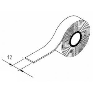 Plastic strip with adhesive 12mm (per metre)
