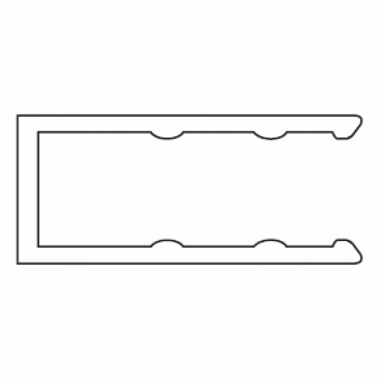 Side Profile (used with 4512 profile)  (per Metre)  (Discontinued)