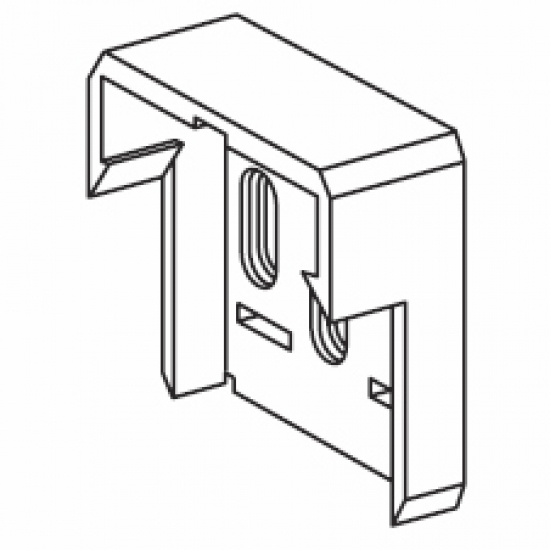 Plastic end bracket (for 4501)  (Discontinued)