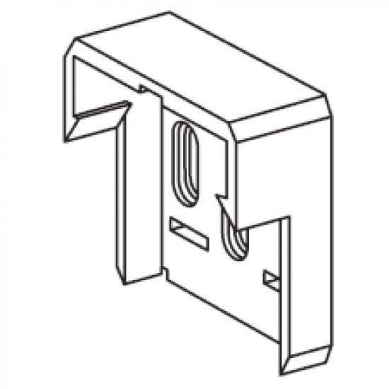 Plastic end bracket (for 4502)  (Discontinued)