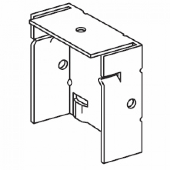 Steel bracket 73mm, Black or white  (Discontinued)