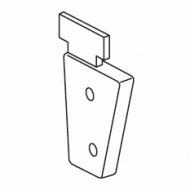 Left inside recess bracket (for 4503)  (Discontinued)