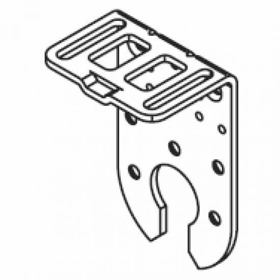 Connection bracket double system (100mm ceiling fixing)