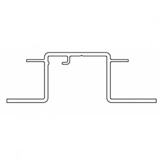 Recess profile Silver or White (per metre)  (Obsolete)