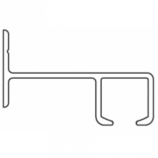 6021 Rail ONLY White (per metre)