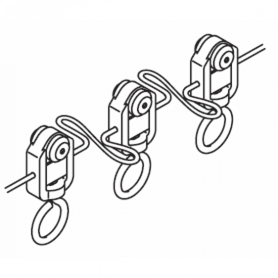 Wave roller glider cord (80mm)per glider