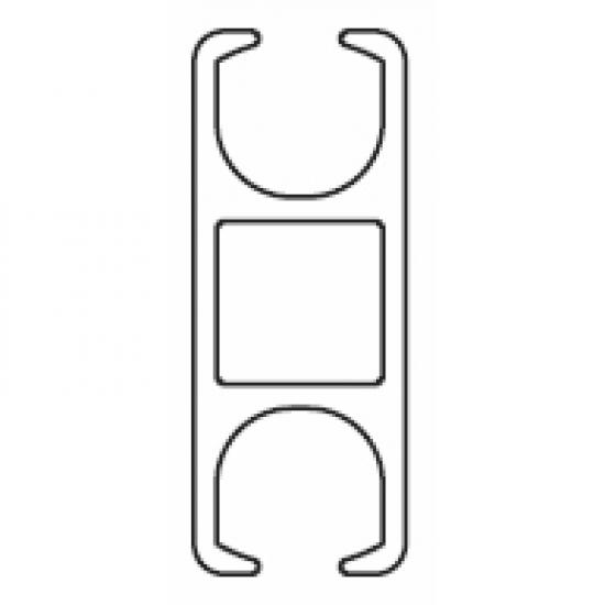 6109 Rail ONLY Silver (per metre) (Obsolete)