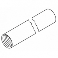 Hanger tube in White (over 1  Metre lengths)