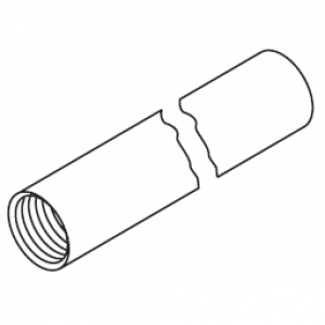 Hanger tube in Silver (over 1  Metre lengths)