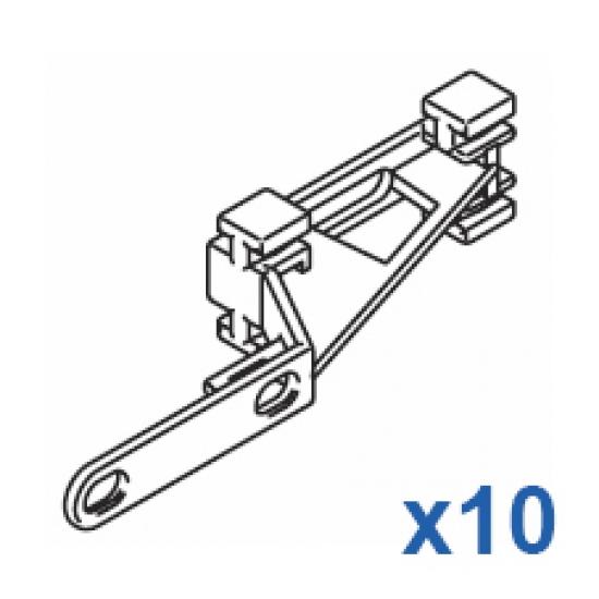 Plastic overlap arm (Pack of 10)