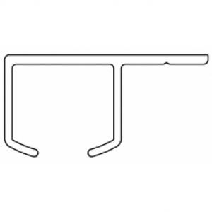 6290 Rail ONLY White (5mtr length)