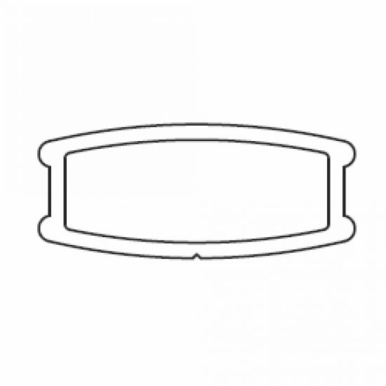 8004 Bottom bar (25mm)(per metre)