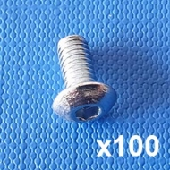 Machine screw M4 x 8mm (Pack of 100)
