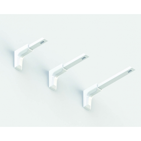 Universal Smart fix 200mm Bracket in White and Silver (pack of 10)