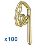 100 Brass Hooks  (Box 100)